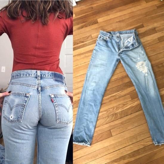 e279298ee1a Vintage Levis 501 High Waist Jeans For Sale Ripped Levis Jeans w Holes 80s  90s