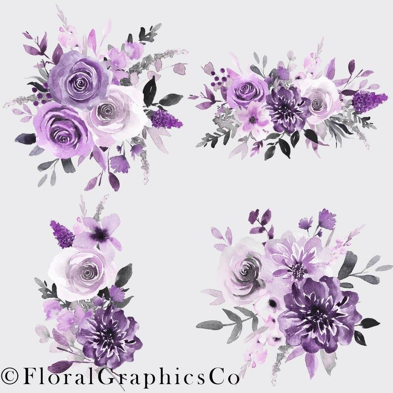 Wedding Invitation With Blue And Purple Watercolor Flower Floral Decoration Watercolor Clipart Background Pattern Png Transparent Clipart Image And Psd File Watercolor Flowers Floral Watercolor Flower Frame