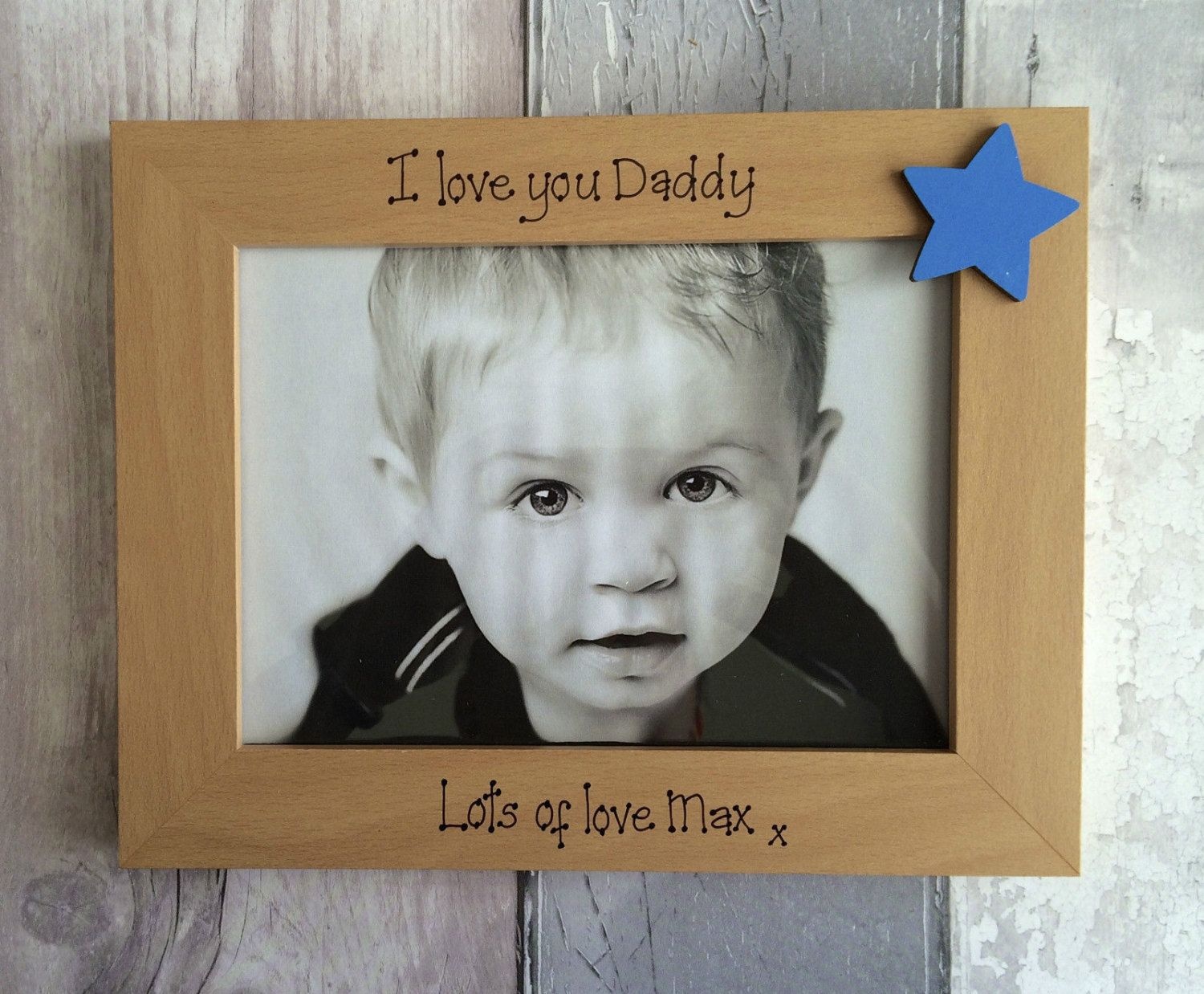 Fathers Day Photo Frame Gift Dad Personalised Daddy Gifts For By Hartscraft