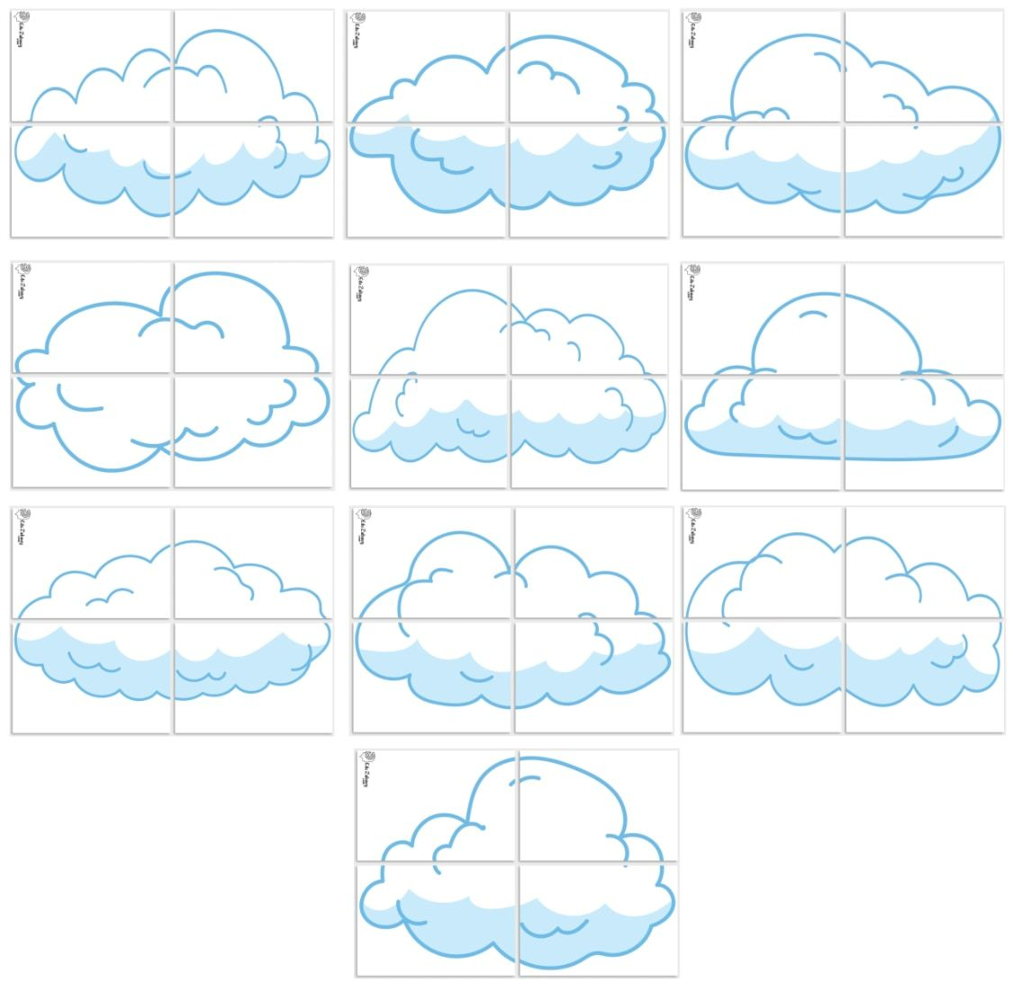 Dekoracje Xxl Chmury 10 Szablonow In 2020