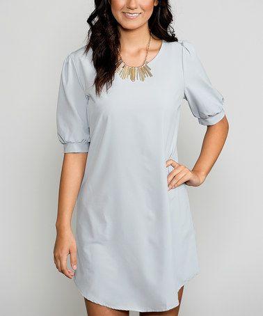 Light Gray Chanelle Tunic Dress #zulily #zulilyfinds