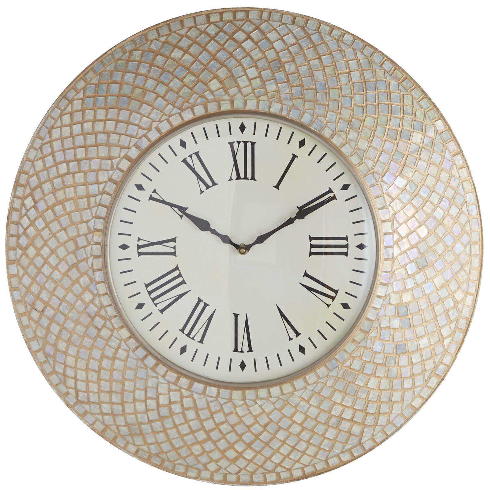 Mosaic Wall Clock Ivory Wall Clock Mosaic Wall Antique Wall Clocks