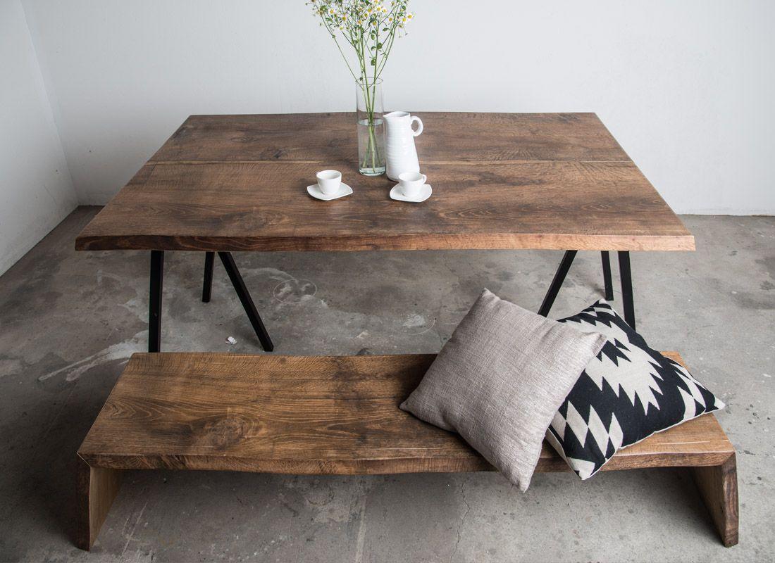 dark vintage design table by SUNWOOD   Altholztische / Vintage ...