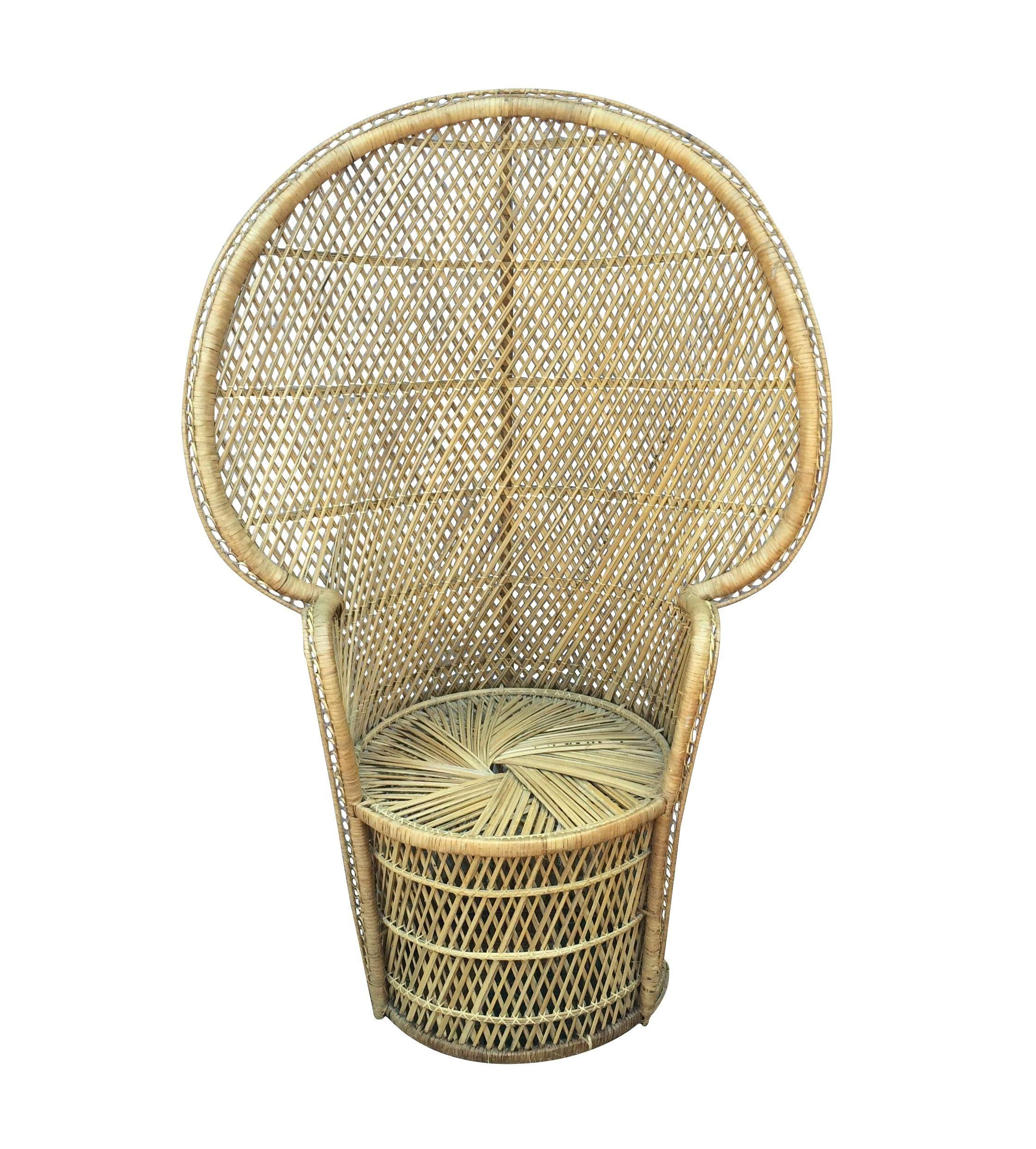 Sold vintage peacock chair wicker peacock chair peacock