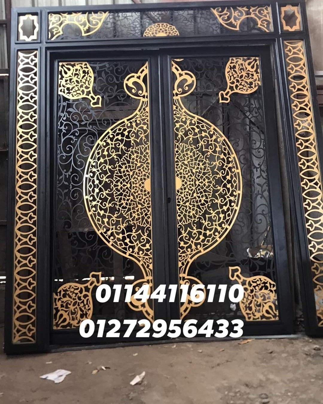 بوابه حديد قص ليزر ٤ملم Front Gate Design Iron Doors Gate Design