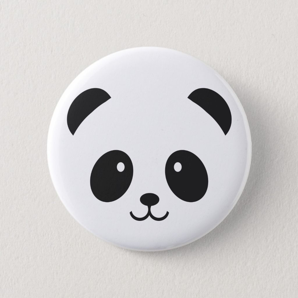 Cute And Cuddly Panda Pin Button Zazzle Com Rock Painting Patterns Painted Rock Animals Painted Rocks Kids