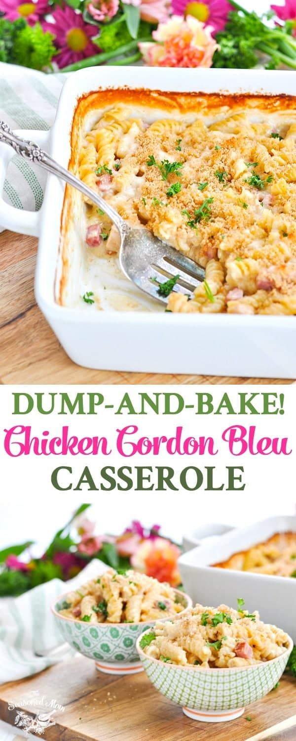 Dump-and-Bake Chicken Cordon Bleu Casserole images