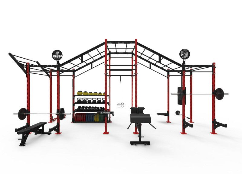 Custom foot incline monkey bar rig red g