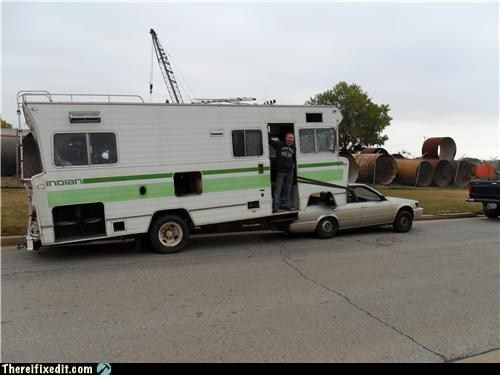 Funny Rv Convert A Motorhome Into A Fifth Wheel 5th Wheel