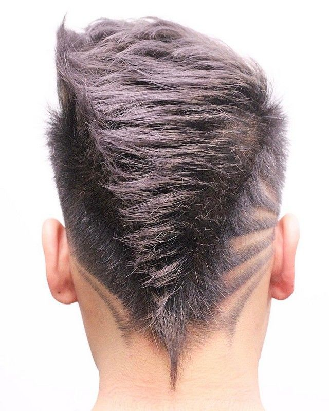 Corte de cabello en v para hombres