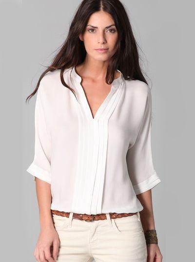 Шелковые блузки: must have на все времена | Шмотка | Pinterest
