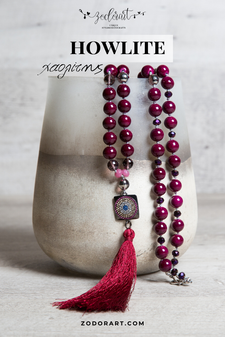Ruby colour Necklace Crystal Necklace with Agate Long Necklace Statement Necklace Bohemian Boho Necklace Agate Necklace Summer Necklace