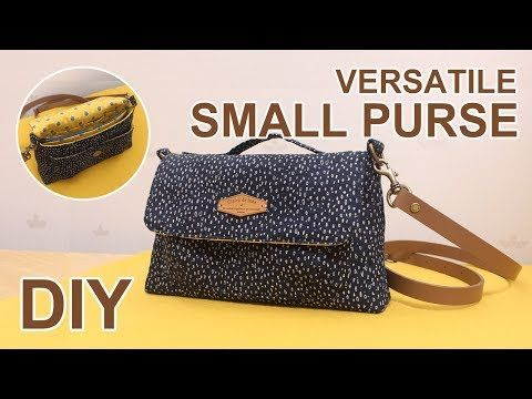 DIY Mini Cross body bag | 미니 크로스백 가방만들기 | Free sewing pattern | Versatile Purseショルダーバッグ #sewingtimes