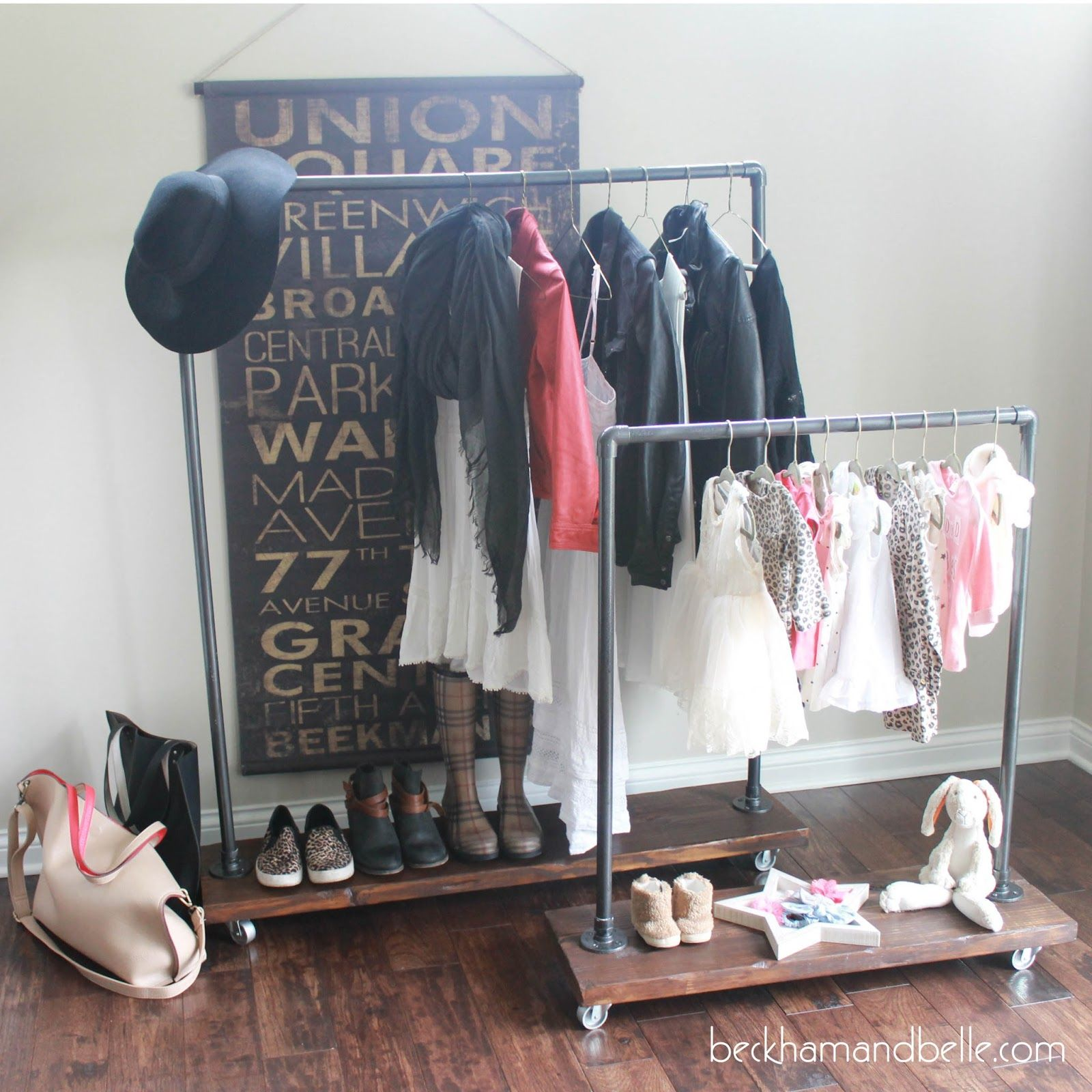 spray up boards wood wall diy by frees wardrobe on putting and painted easy clothes the pin cheap storage dresses kids rack princess space pins dress super
