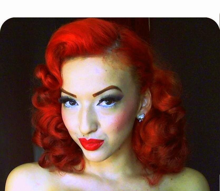 black hair pinup styles vintage retro pinup pin curl hair hair hair hairrrrr 2280 | c6401be1f6df7e28a0a78339663bf8e2