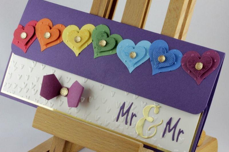 Geschenkverpackung für Konzertkarte zur Hochzeit ♥ Mr. & Mr. ♥ Homo-Ehe #konzertkartenverpacken
