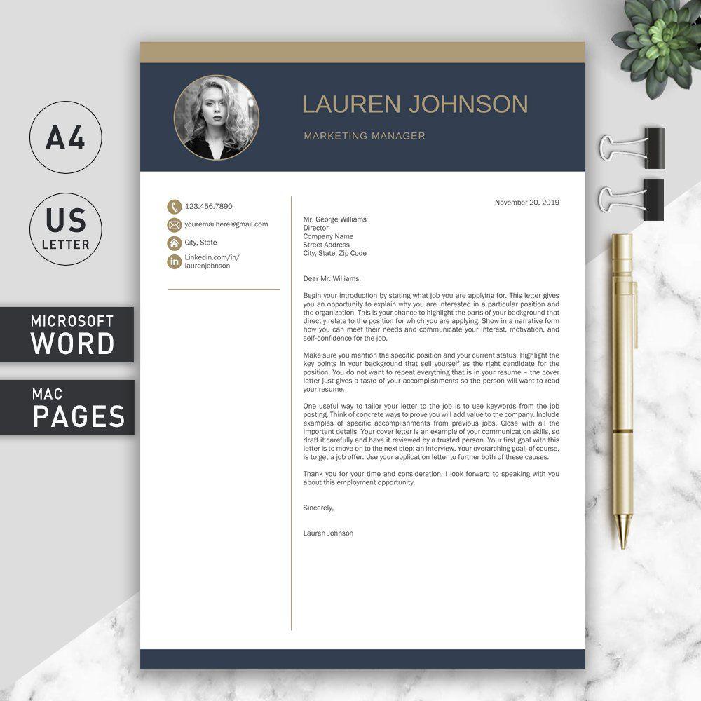 Resume Template CV + Cover Letter Resume template