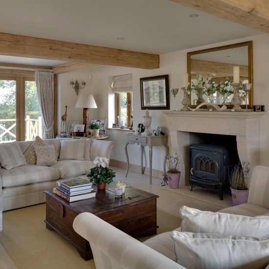 Be Inspired By This Rustic New Build House Cottage Living Rooms
