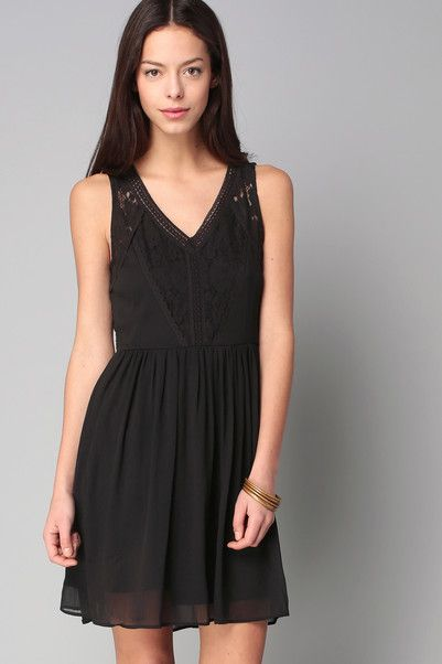 Robe dentelle noire vero moda