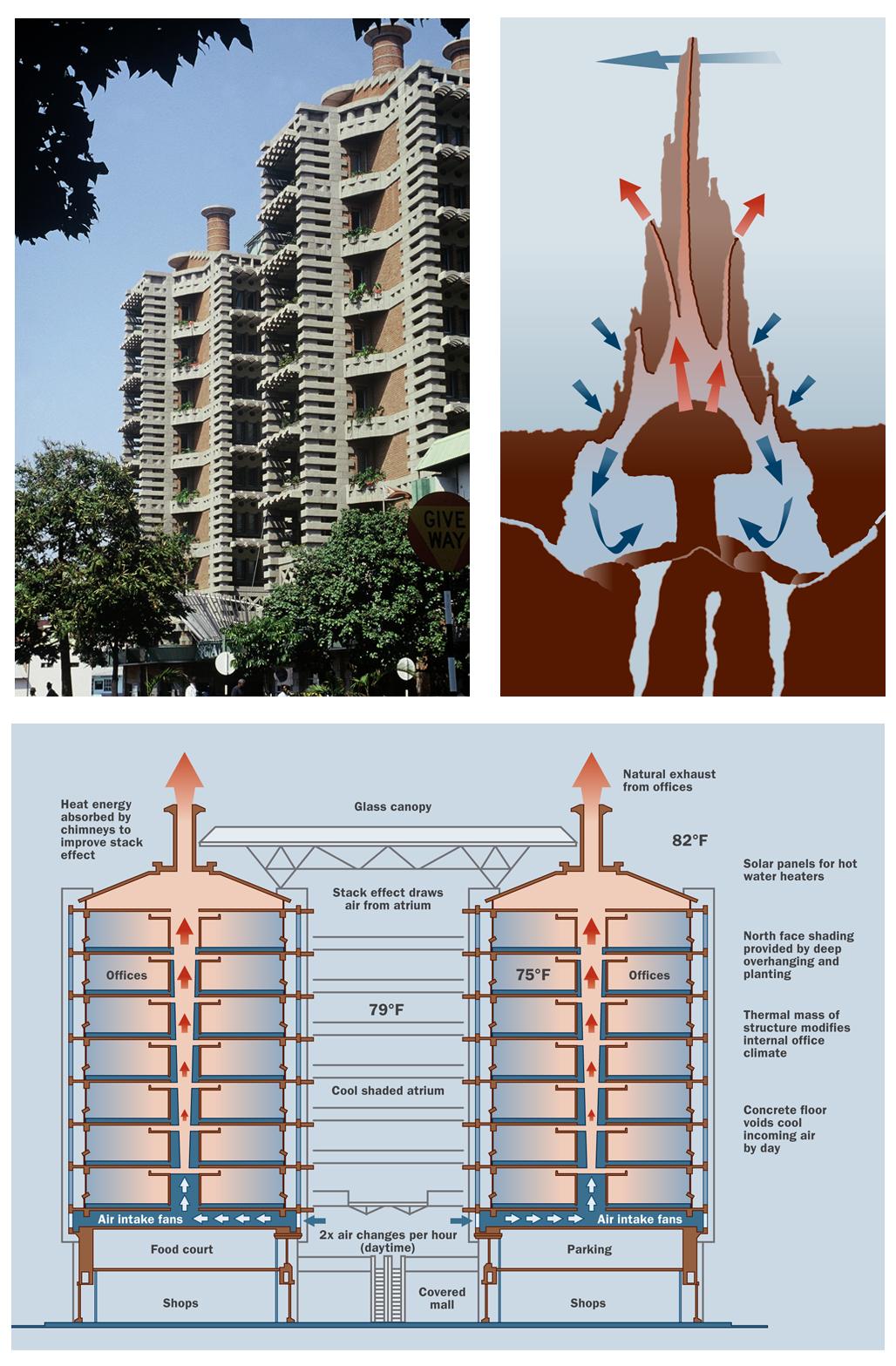 Het termietenheuvel gebouw in harare biomimicry for Office design zimbabwe