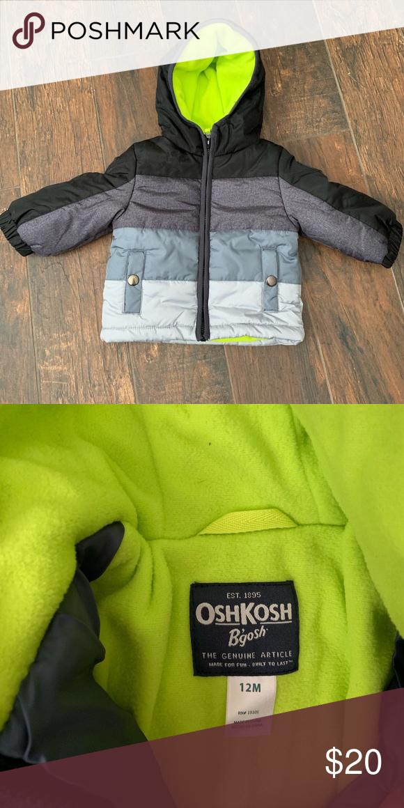 cbfa59c3a 12m Boys Winter Coat OshKosh B'Gosh boys winter coat. Size 12m EUC ...