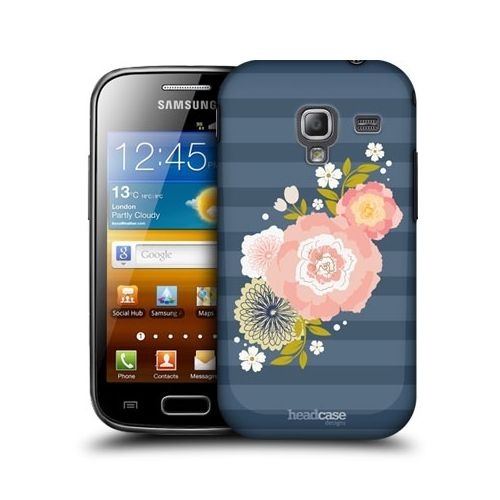 Head Case Midnight Blue Stripes And Peony Case For Samsung Galaxy Ace 2 I8160 Ebay With Images Galaxy Ace Blue Stripes Midnight Blue
