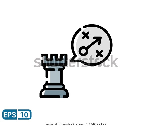 Filled Line Style Icon Strategy Action Stock Vector Royalty Free 1774077179 In 2020 Style Icon Icon Stock Vector
