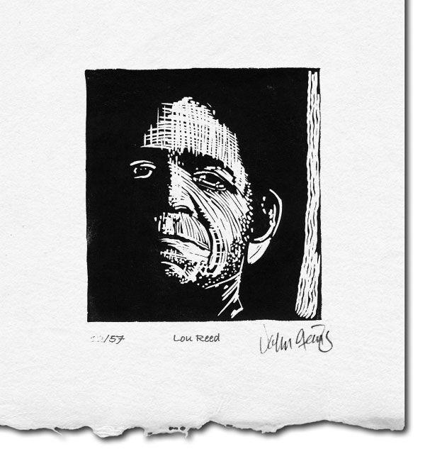 Handmade your design keepsake Custom Made Portrait Original Linocut printmaking