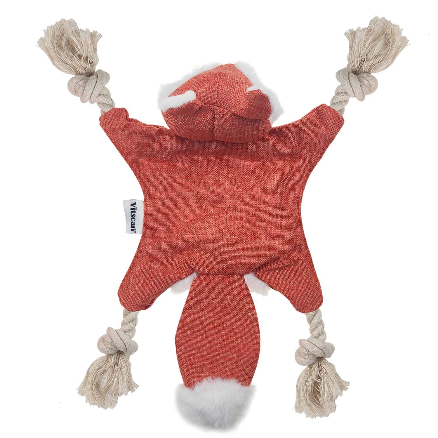 Vitscan Fox Dog Toy With Squeaker Stuffless Dog Toy