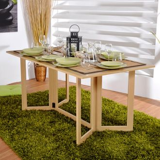 Table Pliante Rectangulaire Double Plateaux L160xl42 85xh74cm Allegro Moveis Varanda