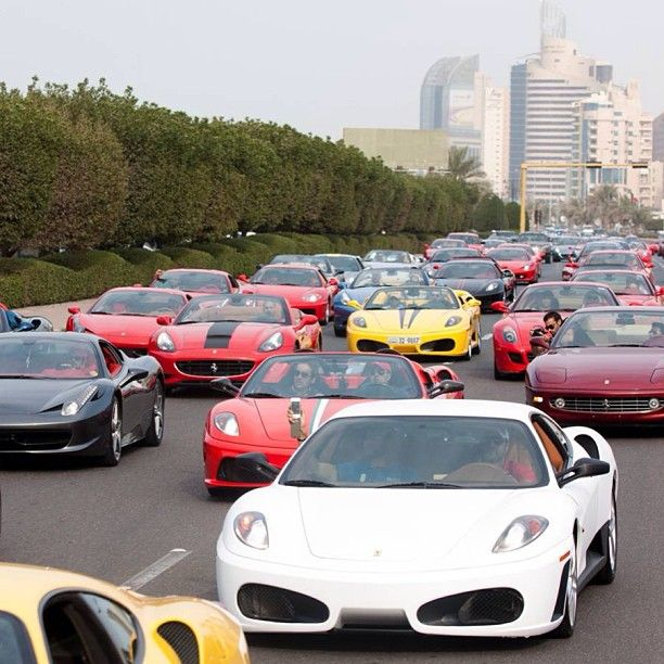 Just Your Average Traffic Jam In Dubai Luxury Car Lifestyle