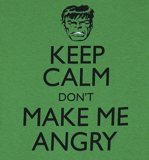 Men 39 S Green Keep Calm Don 39 T Make Me Angry Incredible Hulk