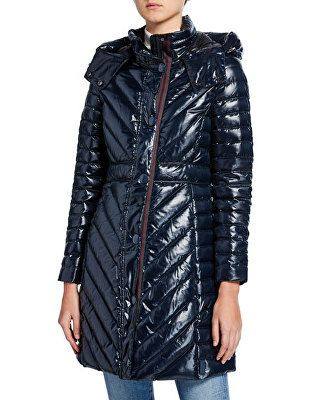 e696d17a9718a Hunter Boot Designer Refined Gloss Down Coat | Avivey (Style Lives ...