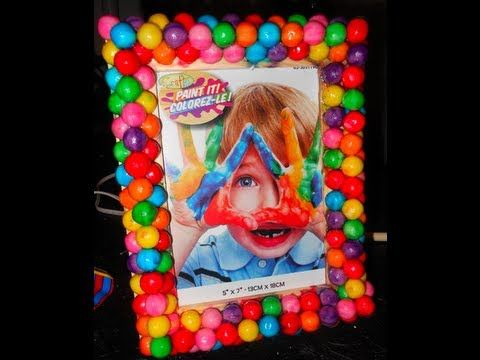 Diy Gumball Picture Frame Party Pinterest Gumball Candy Land