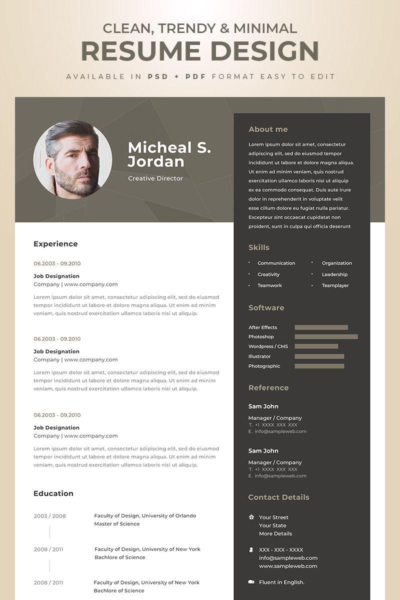 Creative designer professional resume template 74633