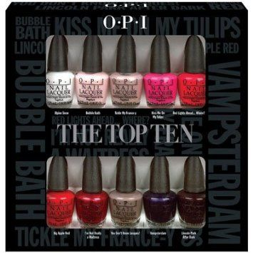 Christmas Gift Opi Nail Polish Lacquer The Top Ten Mini