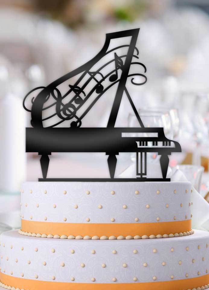 This Grand Piano Music Birthday Cake Topper Will Be The Perfect Addition To Your