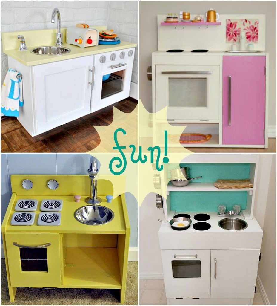 Diy Play Kitchen diy play kitchens. makes me want to be a kid again. or at least