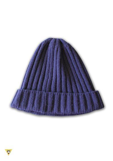 "cappellino ""marinaio"" 100% cashmere blu"