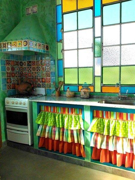 Turquesas Y Mucho Color Diseno De Interiores De Cocina Cocinas