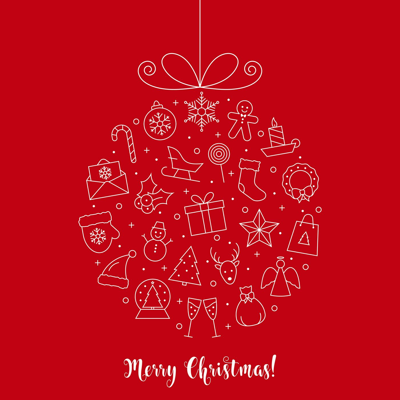 Christmas Icons Set on Behance   Christmas flyer, Merry christmas and happy new year, Christmas ...