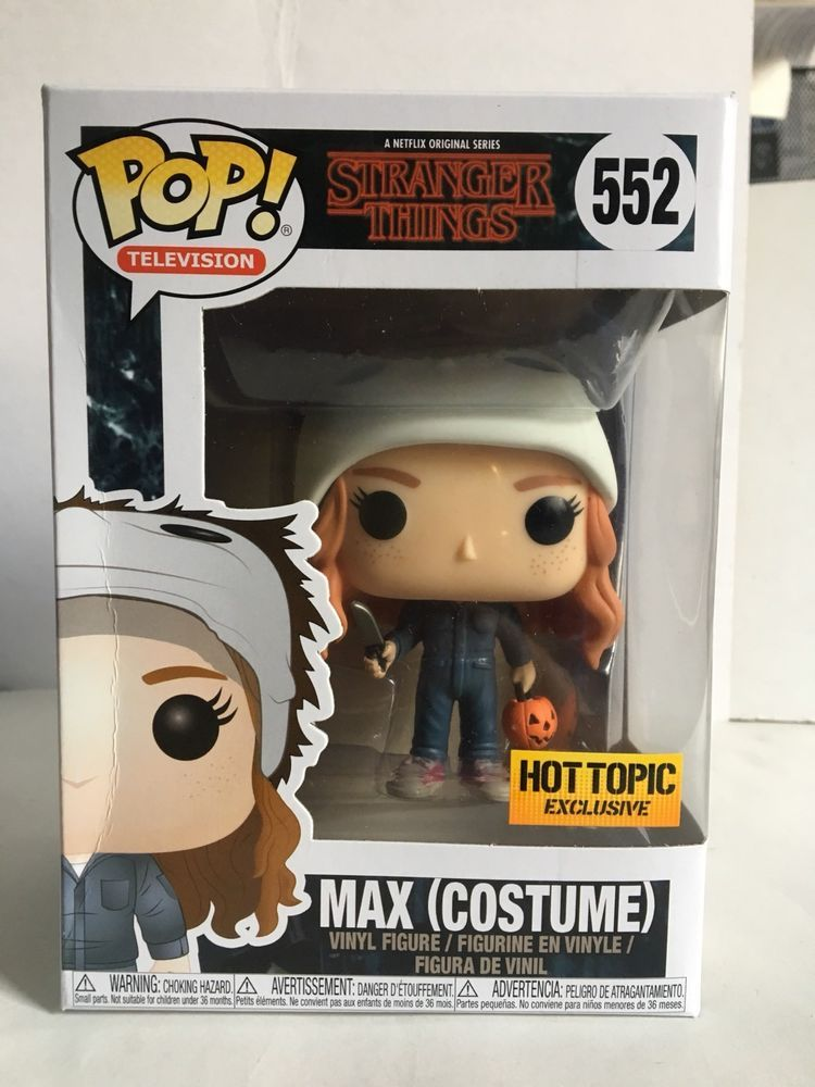 a3e1fd63250 Funko POP! Stranger Things MAX (COSTUME) 552 Hot Topic Exclusive Figure Box  Dmgd