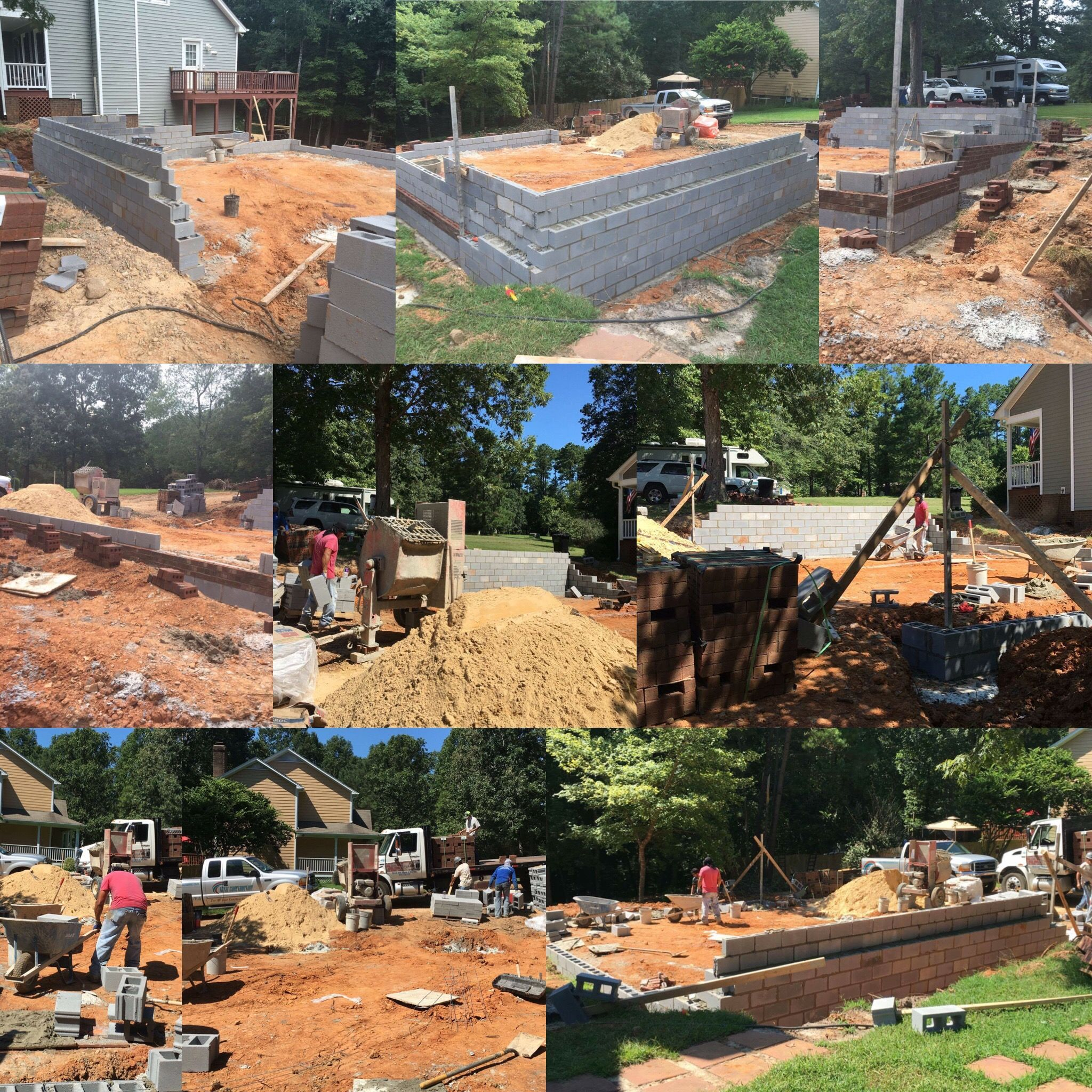 Finished the pool deck and foundation. Next up Slab and framing ...