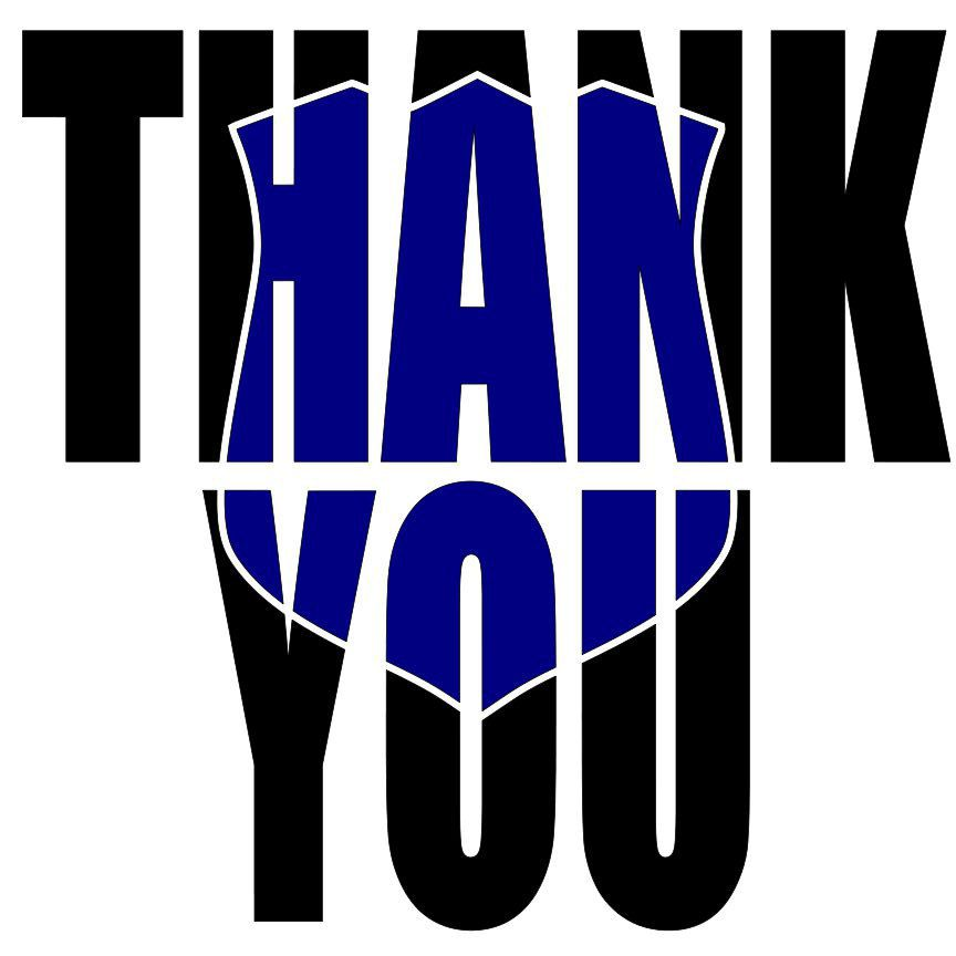 Thank You, Blue Matters, Police, SVG, Cricut, Free
