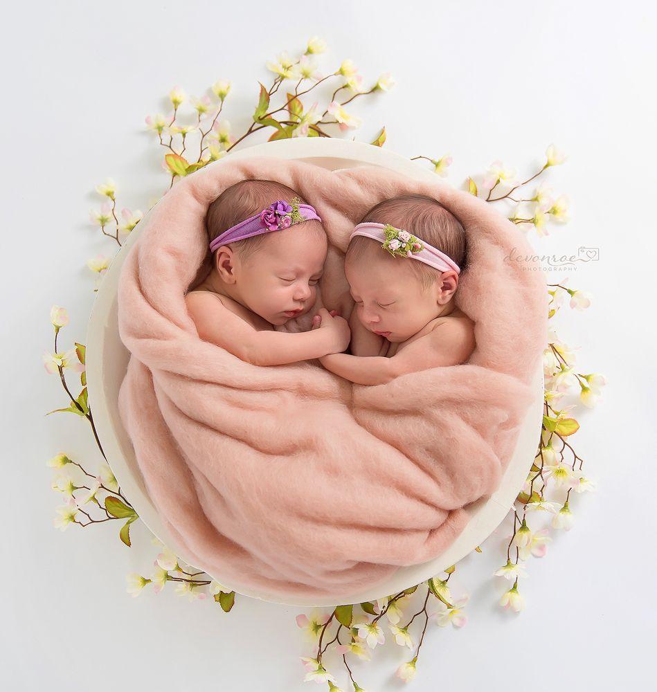 Открытка с новорожденной двойней, открытки