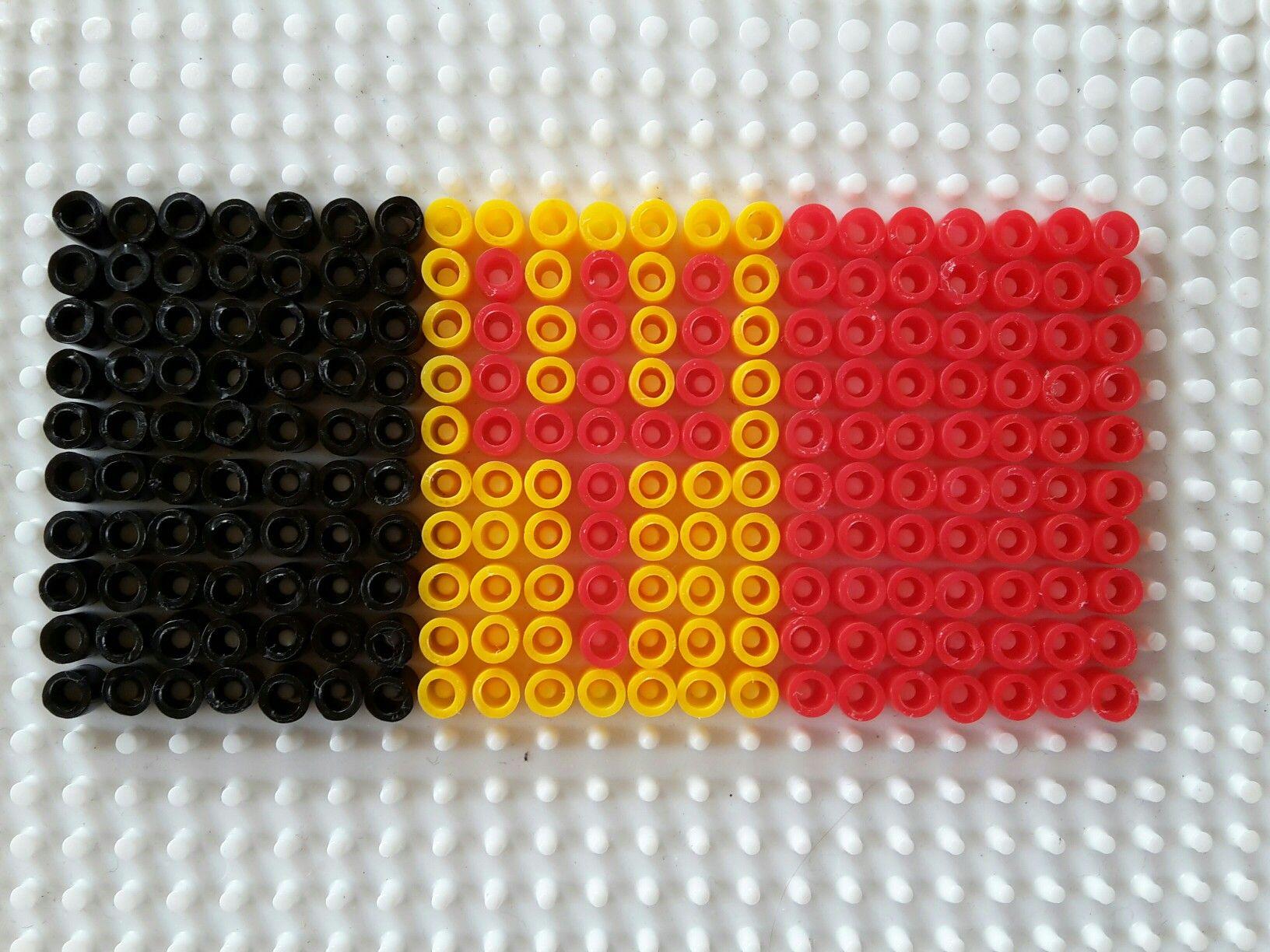 Belgische Vlag Rode Duivels Vlag Strijkparels Vaderdag
