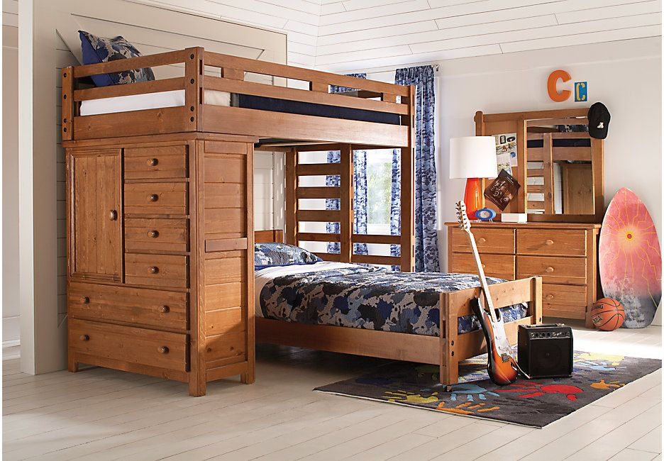 creekside taffy twin twin student loft bed with chest