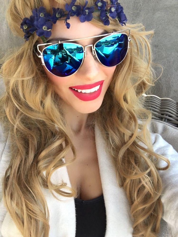 women's mirrored aviator sunglasses 950l  So
