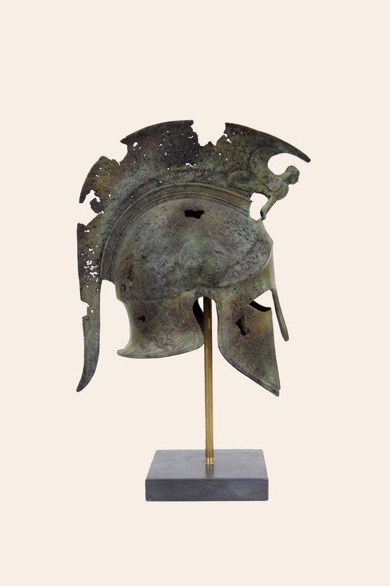 Ancient Greek Bronze Museum Replica Vintage Spartan Infantry Battle Helmet 300