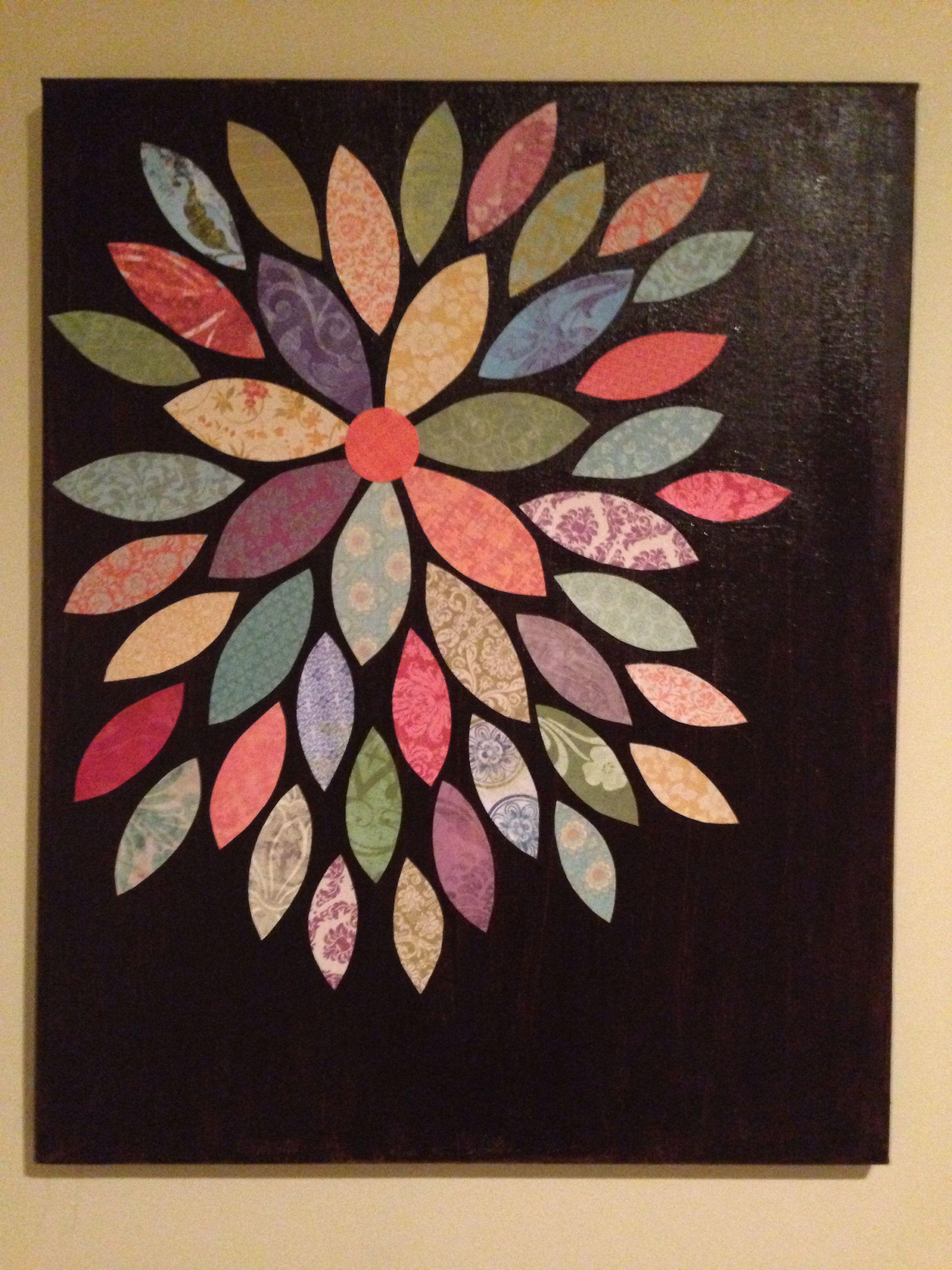 Scrapbook paper art ideas - Canvas And Scrapbook Paper Art